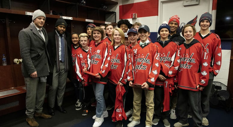 Capitals unite around youth hockey team to combat 'ugliness' of racism