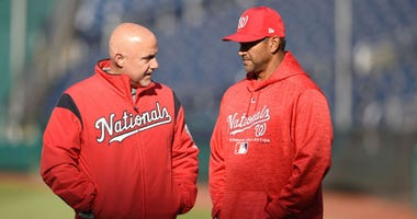 Nationals GM Mike Rizzo and manager Davey Martinez