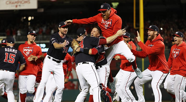 Nationals Celebrate World Series Berth