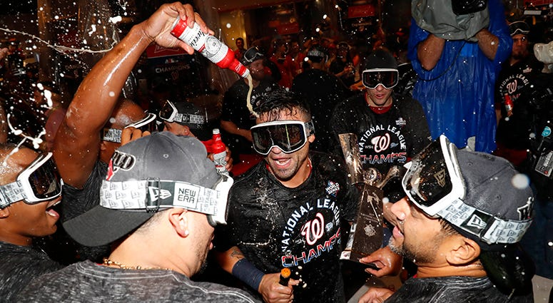 Nationals NLCS championship celebration