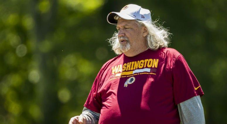 Redskins inside linebackers coach Rob Ryan at Redskins minicamp