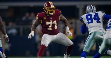 Redskins LT Trent Williams blocks Cowboys DE Randy Gregory.