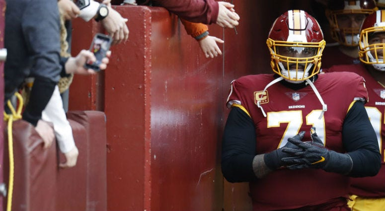 SOURCE: Redskins won't explore trading Trent Williams until January