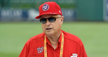 Washington Nationals owner Mark Lerner during workouts before the All-Star Game.