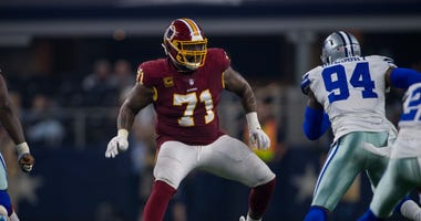 Washington Redskins offensive tackle Trent Williams and Dallas Cowboys.