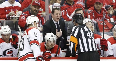 Hurricanes head coach Rod Brind'Amour said hit on Capitals' T.J. Oshie wasn't dirty.