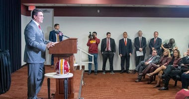 Washington Redskins head coach Ron Rivera speaks during his introductory press.