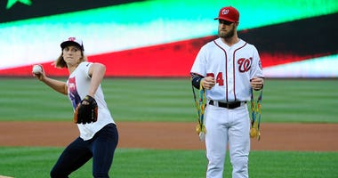Katie_Ledecky_First_Pitch