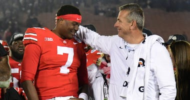 Urban Meyer lauds Haskins as 'best ever' at Ohio State