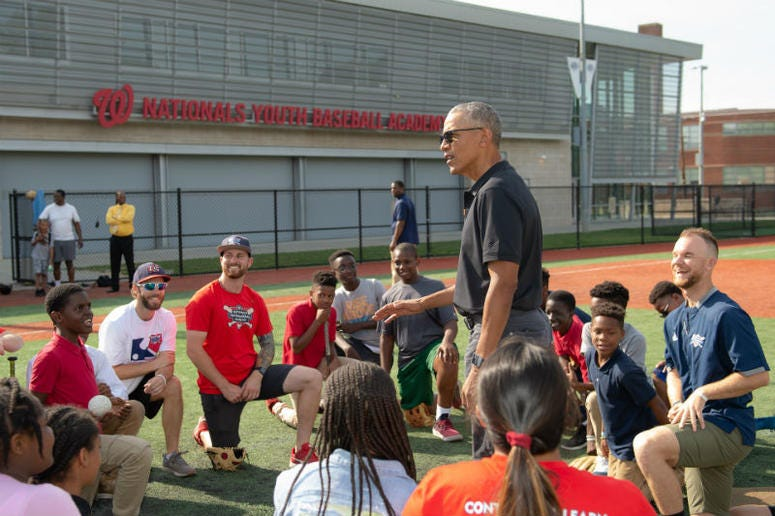 President Obama Visits Nats Youth Academy