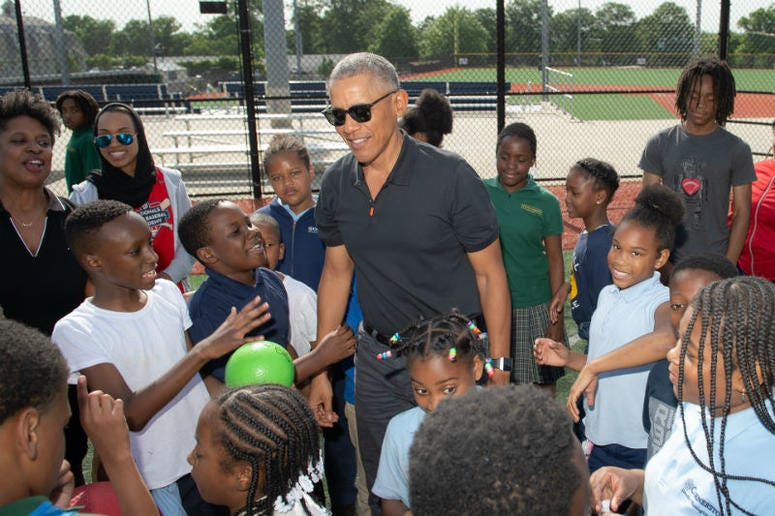 President Obama Surprises Nats Youth Academy