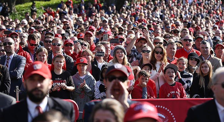 Nationals  White House Crowd Size