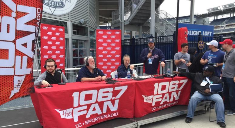 106.7 The Fan broadcasting live from Nationals Park.