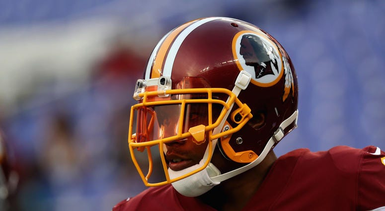 Terrelle Pryor of the Washington Redskins warms up before the start of a preseason game.