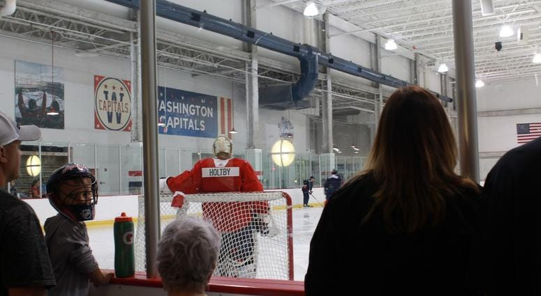 The Capitals kick off their first practice as Champions.