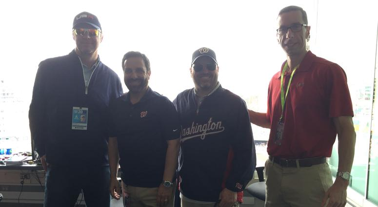 Charlie Slowes and Dave Jageler with John Auville and Jason Bishop.
