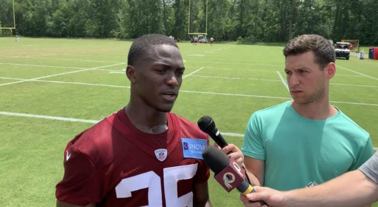 Jimmy Moreland shines in Redskins practice with three interceptions