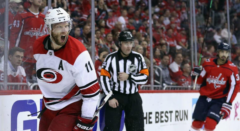Caps-Hurricanes Game 7 headed for overtime