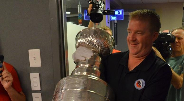 The Keeper of the Cup, Mike Bolt of the Hockey Hall of Fame, brings the Stanley Cup in studio