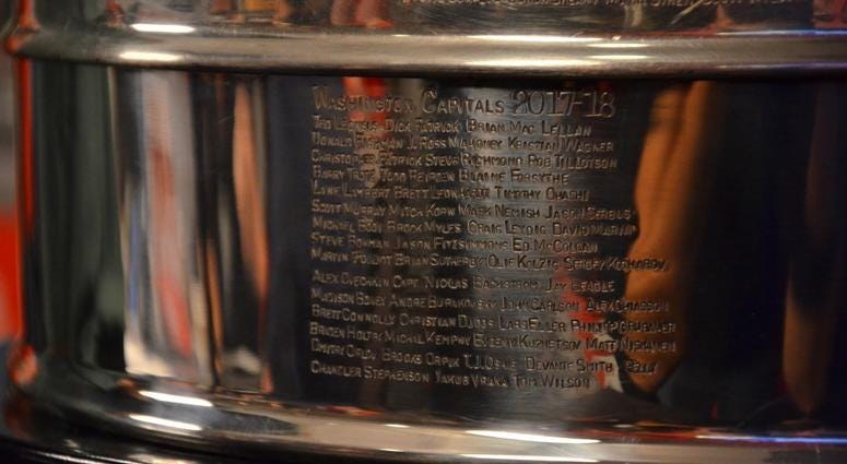 The Capitals' names are now engraved into Lord Stanley's Cup