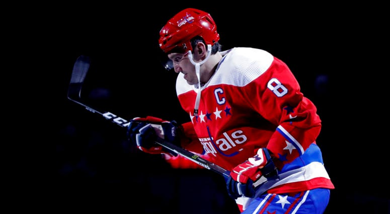 Alex Ovechkin scored on the power play in Game 1 of Stanley Cup Playoffs.
