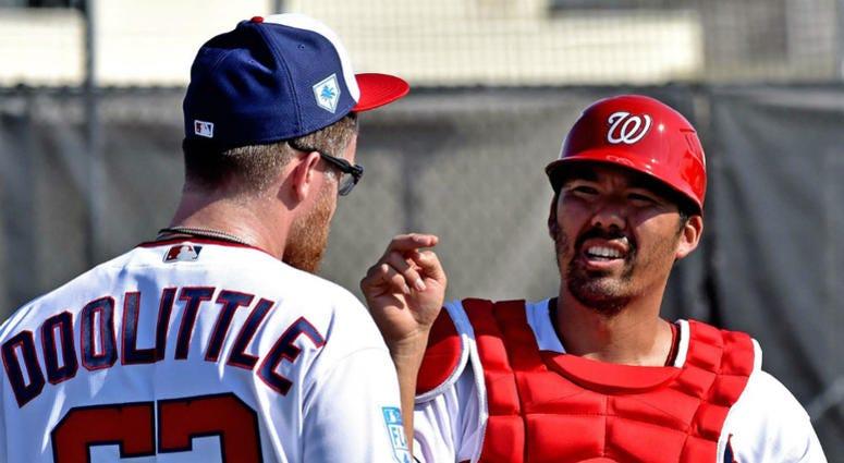 Nationals catcher Kurt Suzuki has no problem splitting time with Yan Gomes.
