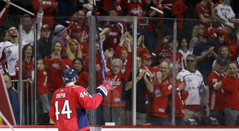 Brooks Orpik played the hero for the Capitals in Game 2.