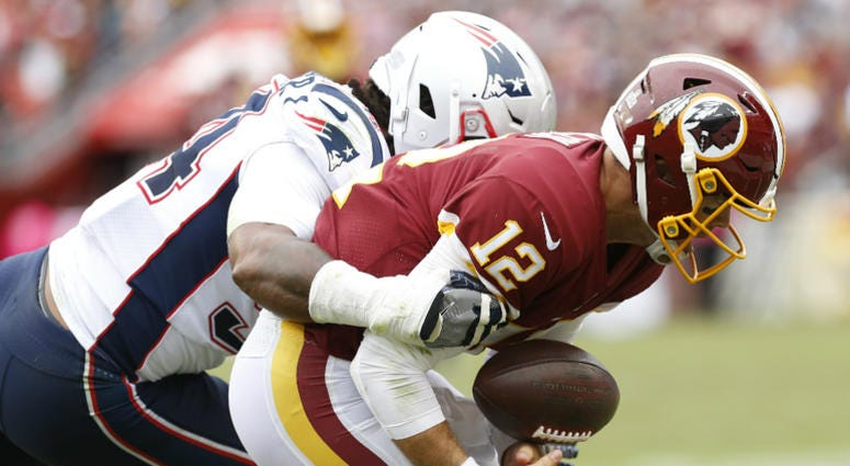 Redskins lose to Patriots, fall to 0-5