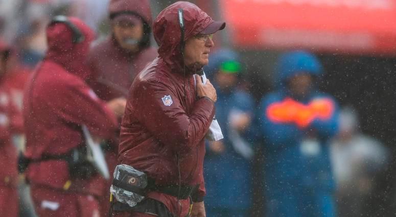 Photos: Rain turns FedEx Field into swamp