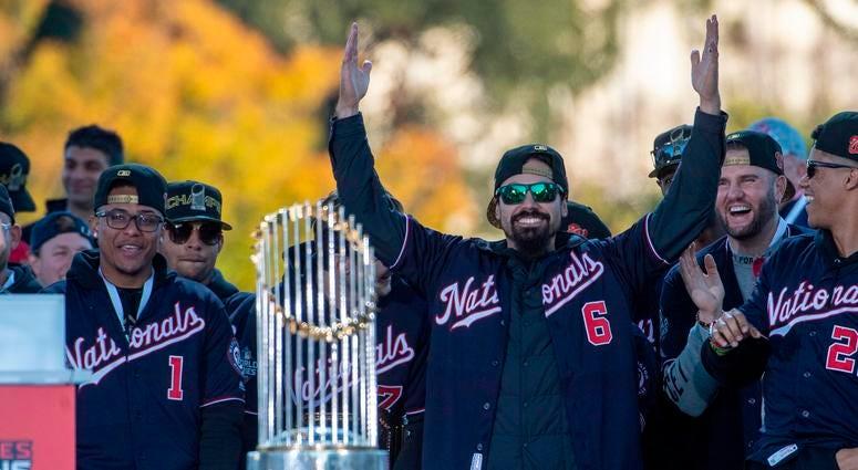Washington Nationals third baseman Anthony Rendon at the World Series Championship Parade