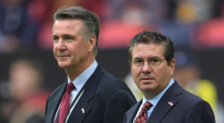 Washington Redskins owner Daniel Snyder and team president Bruce Allen.