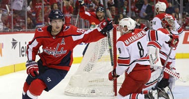 Nicklas Backstrom scored twice and the Capitals took charge in Game 5.
