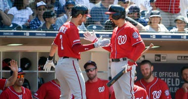 Nationals hit four-straight home runs in the 8th inning to beat the Padres.