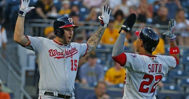 Nationals crush Pirates, keep dugout dance party going.