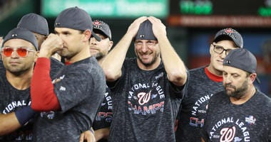 Even when happy, Nats' Max Scherzer is still intimidating