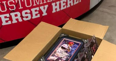 Bryce Harper merchandise being boxed up at Nationals Park