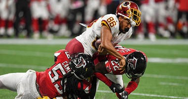 Jordan Reed being evaluated for a concussion