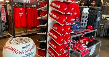 Nationals World Series Fitted Hats Red