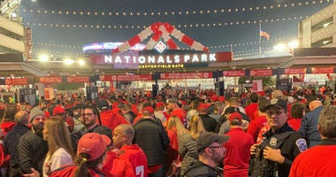 It was a packed house outside of Nationals Park for Game 3 of the World Series.