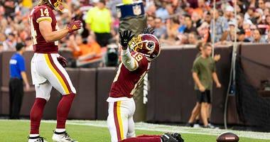 Redskins-Browns: Case Keenum links up with Robert Davis for 46-yard TD