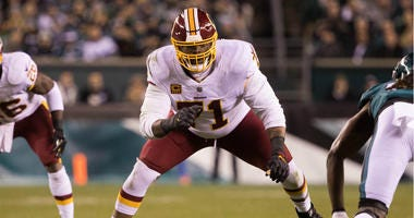 Trent Williams playing for the Washington Redskins in 2018.