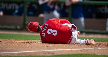 Players vote Bryce Harper MLB's most overrated player.