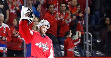 Capitals goaltender Braden Holtby shined for the Capitals in Game 1.