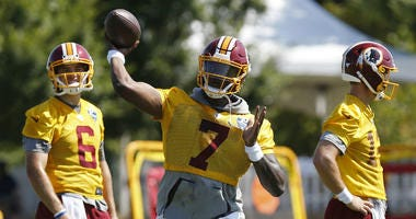 Training Camp Notebook: Dwayne Haskins had his best day with Redskins as WR competition heats up.