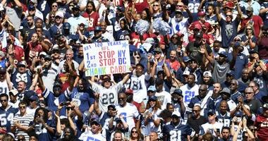 Redskins home-field advantage lacking vs. Cowboys