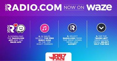 Waze and RADIO.COM