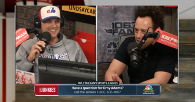 Comedian Orny Adams is amazed Eric Bickel has it all figured out.