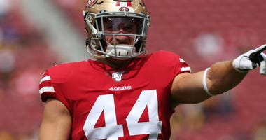 Former Ravens fullback Kyle Juszczyk plays for his first Super Bowl this Sunday as the 49ers take on the Chiefs