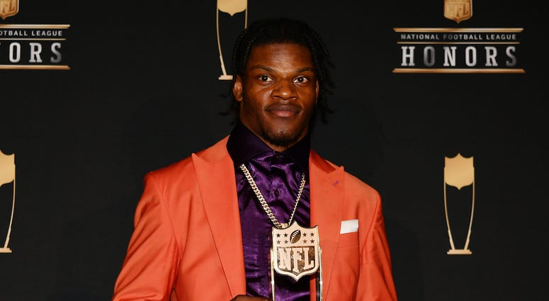 Lamar Jackson honored with the NFL MVP award