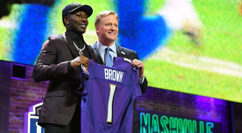Marquise Brown with Roger Goodell